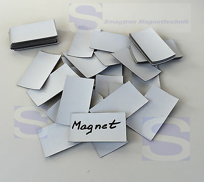 100 x Magnetplättchen-Writable 60 x 34 x 0,5mm - Labels Magnetic Foil