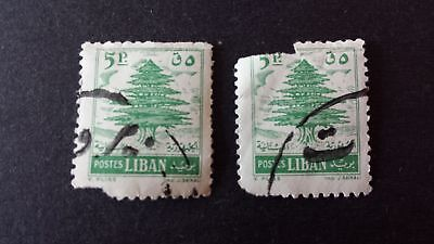 2 Briefmarken Liban Libanon