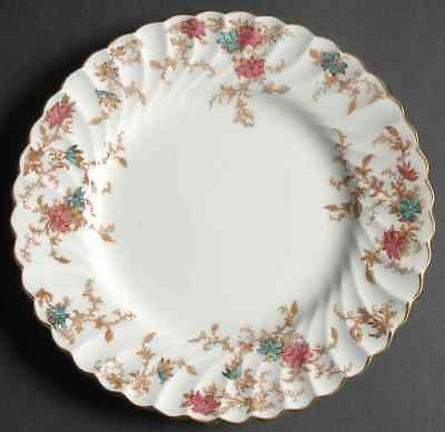 Set 4 Minton Ancestral Salad Plates Globe Bs Fine Bone China England