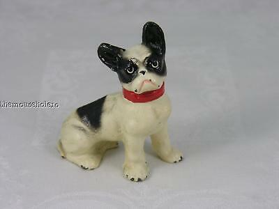 Hubley cast iron miniature French Bulldog paperweight
