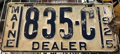 1925 Maine dealer license Plate