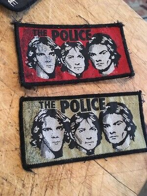 Vintage The Police Cloth badge X 2 App 10 X 5 Cm