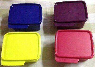 Tupperware Keep Tabs Small Set of 4- 500ml each in 4 different colors-New
