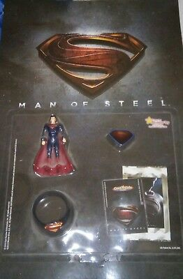 Man Of Steel toy display from Carl's Jr