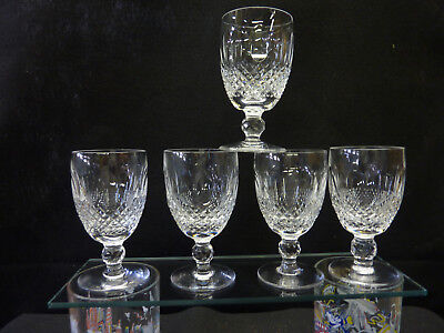 5 Waterford Colleen Claret Wine Glasses  Pristine Condition!!