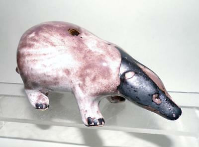David Sharp Rye Pottery Badger Figurine made in White Earthenware