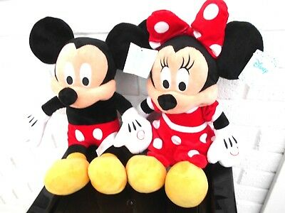 Disney Official Mickey Mouse Or Minnie  Plush Light Up Cheeks Sound Primark