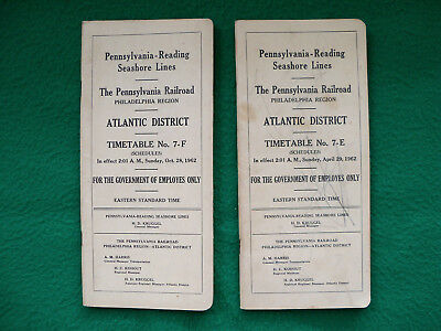 Pennsylvania Reading Seashore Lines PRSL 2 ETTs 1962 #7E #7F