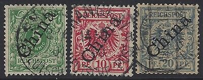 German Offices in China - Sc# 2, 3 & 4 - Used -     $25.00      (C-208)
