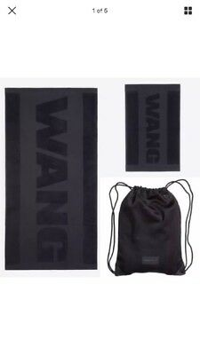 Alexander wang x H&M 2 towel and mesh bag New NWOT Authentic Black Backpack Gym