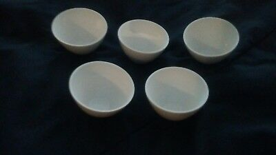 5 New ..Coors Ceramics 60137 Wide Form Porcelain Crucibles, 50 ml