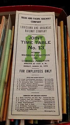 Texas & Pacific/ Louisiana & Arkansas Railway Co. Time Table 13 Effect 1970