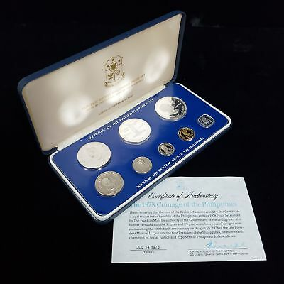 1978 Coinage of the Philippines Proof Set Manuel Quezan Collector Coins CBX3COP8