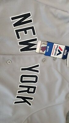 Official New York Yankees Jersey Away Size 44 Large Blank
