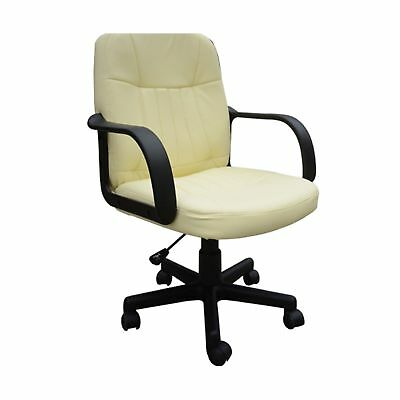 HOMCOM Swivel Executive Office Chair PU Leather Computer Desk Chair Office ... .