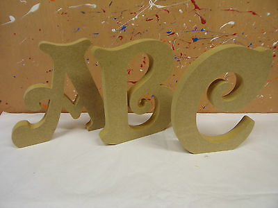 """18mm mdf wooden freestanding letters 4""""6""""8""""10""""12 VICTORIAN FONT CHEAPEST ON EBAY"""