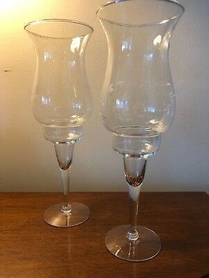 Crystal Princess House Stemmed Candle Holders With Globes
