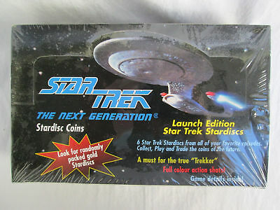 Star Trek The Next Generation Stardisc Coins 1994 NEW, SEALED BOX