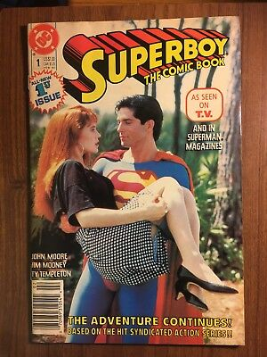 VTG DC COMIC SUPERBOY THE COMIC BOOK 1989 1st  ISSUE