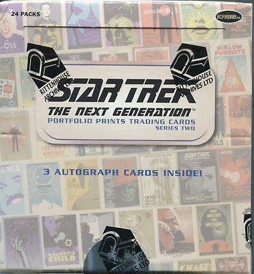 2016 Star Trek TNG Portfolio Prints Series 2 Sealed Box with 3 autograph cards
