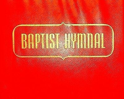 BAPTIST HYMNAL with RED Vinyl COVER Copyright Date 1956 CHURCH HYMNAL #1