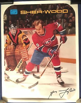 VERY RARE GUY LAFLEUR MONTREAL CANADIENS 1970 VINTAGE PROMOTIONAL Poster