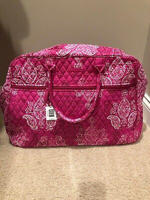 Vera Bradley Grand Traveler ~ Pink Stamped Paisley ~ NWT ~ Carry On Bag