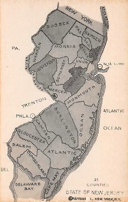 C07-4118, Map Of State Of New Jersey,.