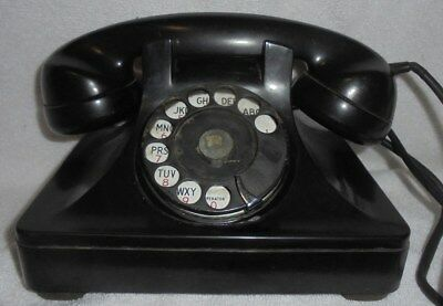 Antique vintage rotary dial telephone 40's