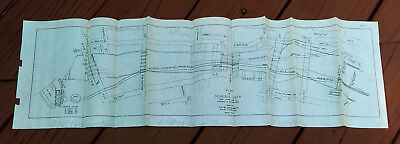 1930 Plan Sketch Map of Genessee River Johnson and Seymour Dam New York