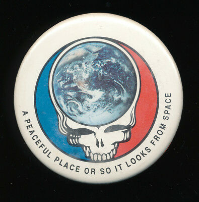 Grateful Dead A Peaceful Place Or So It Looks from Space RARE promo button