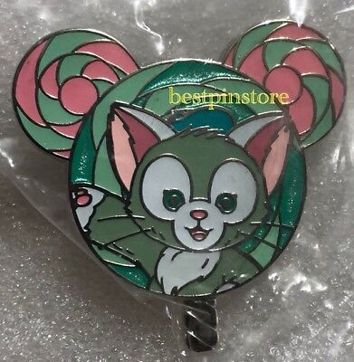 Hong Kong Disney pin HKDL Lollipop Mystery Tin Collection - Gelatoni