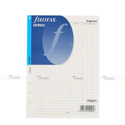 Filofax A5 Expenses Notebook Refill Insert Note paper Planner Organiser -340605
