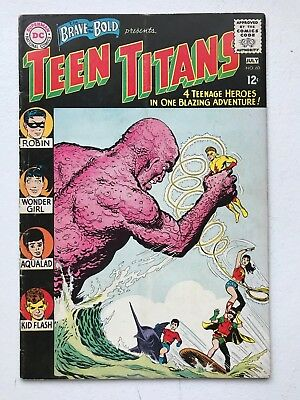 The Brave and Bold #60 Teen Titans - DC Robin Flash Aqualad 1st App Wonder Girl