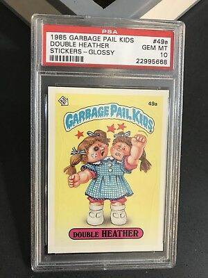 1985 Garbage Pail Kids # 49A Double Heather Glossy GEM Mint PSA 10, Series 2