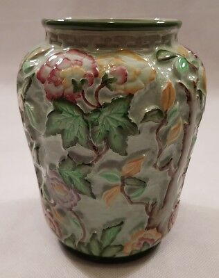 Radford Pottery Green Indian Tree Vase Art Deco Style 1930s 1940s