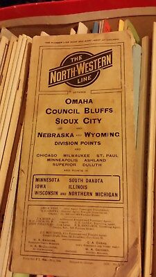 North Western Line Omaha, Council Bluffs, Sioux City & Neb & Wy Time Table 1904