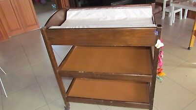 Baby change table mahogany timber