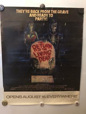 "Promo ""Return Of The Living Dead"" Movie Poster 20""x16"" tsol the cramps punk cult"