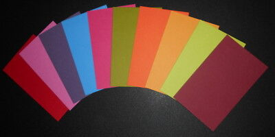 Colourful Textured Cardstock x 10 ~ 10 colours~11.5cm x 7cm ~ Scrapbooking/Cards