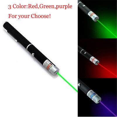 Portable Red/Blue Violet /Green Laser Pointer Pen Visible Beam Light 5mW Torch