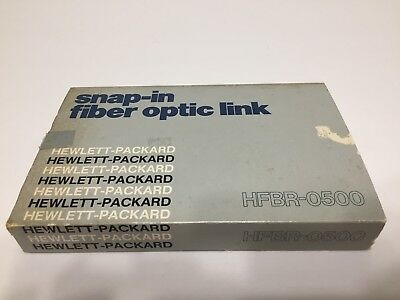 Hewlett Packard HFBR-0500 Snap-In Fiber Optic Link. Free Shipping!