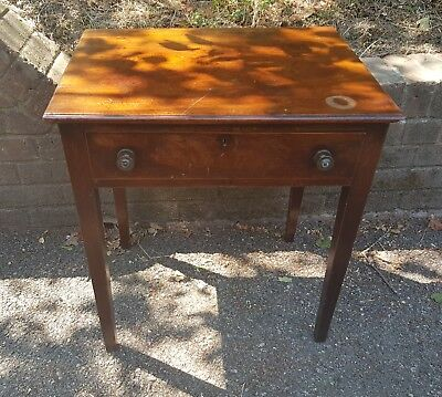 Antique mahogany table with drawer / Georgian