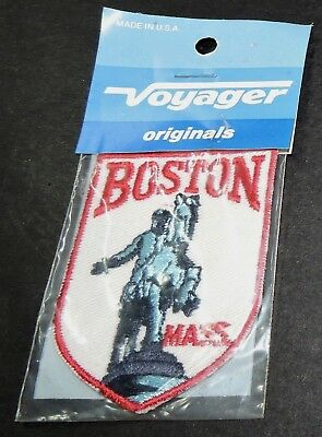 Boston Mass USA America Embroidered Souvenir Badge Patch Paul Revere Horse Rider