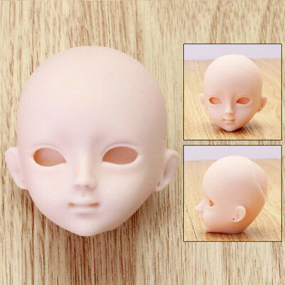 Soft Silicone Makeup DIY Doll Head Practising Accessory For 1/6 BJD Doll Barbie