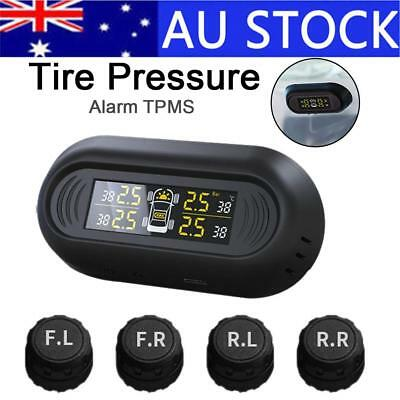 Wireless Digital Gauge Car TPMS Solar Power Tire Pressure Monitoring System