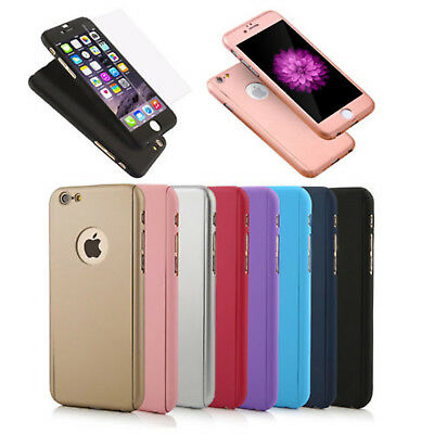 Matte Skin Thin Shockproof Hybrid 360 Degree TPU Soft Gel Cover Case