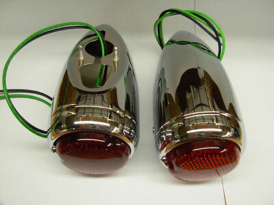 1939 Chevy Taillight Assembly Chrome Pair Chevrolet Tail light tale tell lite
