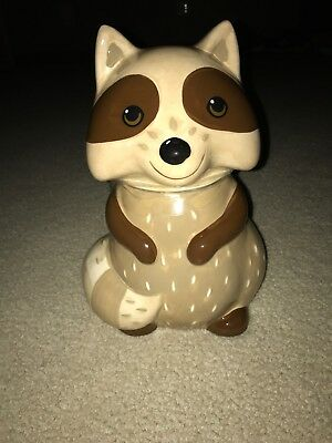 Earthenware Raccoon Cookie Jar