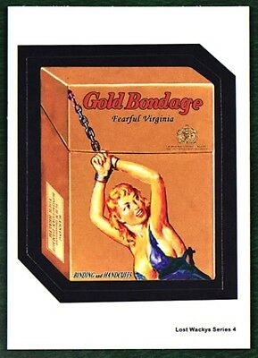 NEW Lost Wacky Packages 4th Series NORM SAUNDERS ART - GOLD BONDAGE Blue